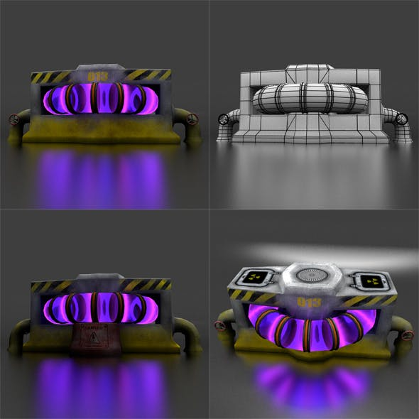 Reactor LowPoly for Game - 3DOcean Item for Sale
