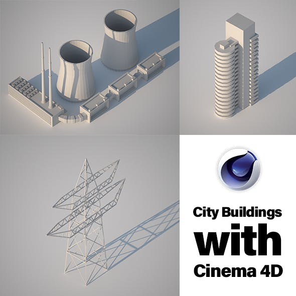 Low Poly City Building Collection 3 - 3DOcean Item for Sale