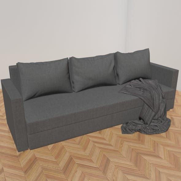 Realistic and detailed sofa - 3DOcean Item for Sale