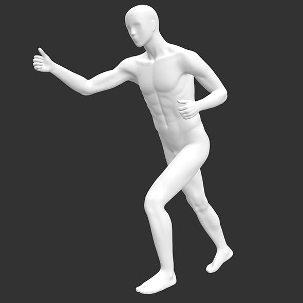 skiing male sports mannequin 3d print model - 3DOcean Item for Sale