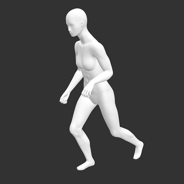 skiing female mannequin sports 3d print model - 3DOcean Item for Sale