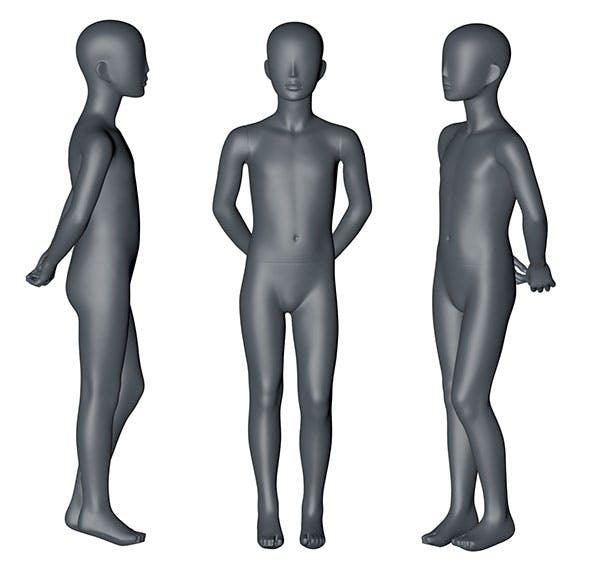 8-year-old Children Mannequin 3d printing model - 3DOcean Item for Sale