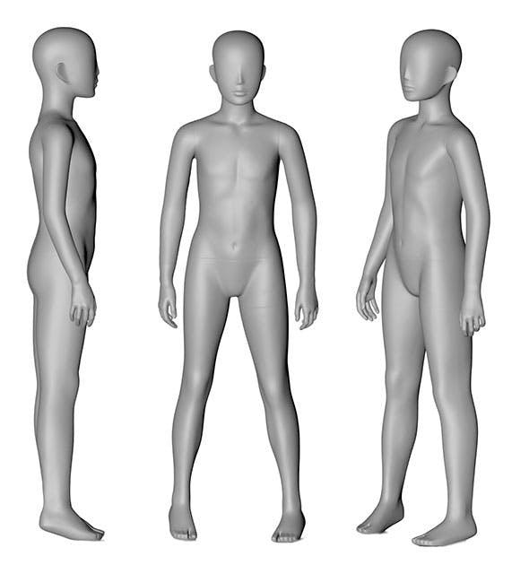 10 Years Children Mannequin 3d printing model - 3DOcean Item for Sale
