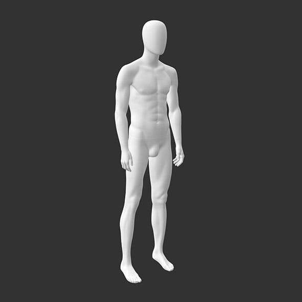 Male Sports Mannequin 3d Printing Model