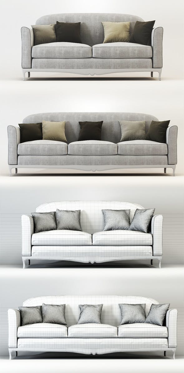 Quality 3dmodel of sofa Dorian. Veneta Sedie - 3DOcean Item for Sale