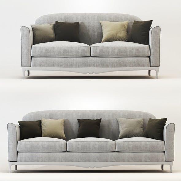 Quality 3dmodel of sofa Dorian. Veneta Sedie