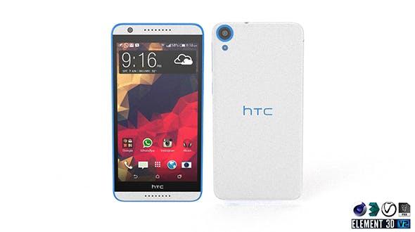 HTC Desire 820 - Element 3D - 3DOcean Item for Sale
