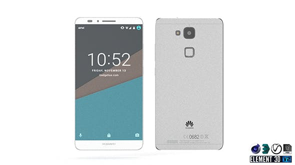 Huawei Ascend Mate 7 - Element 3D - 3DOcean Item for Sale