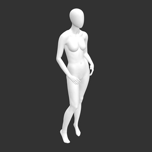 Leisure Female Mannequin 3d printing model of no face and muscle