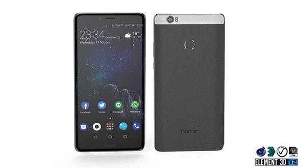 Huawei Honor Note 8 - Element 3D - 3DOcean Item for Sale