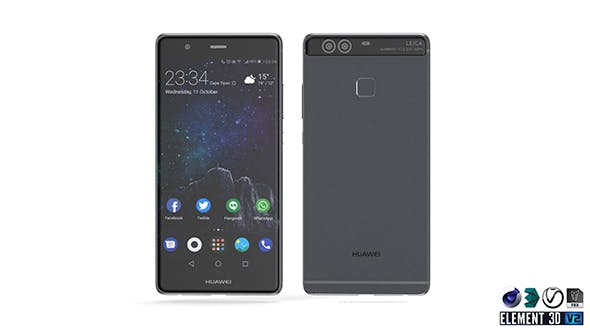 Huawei P9 - Element 3D - 3DOcean Item for Sale