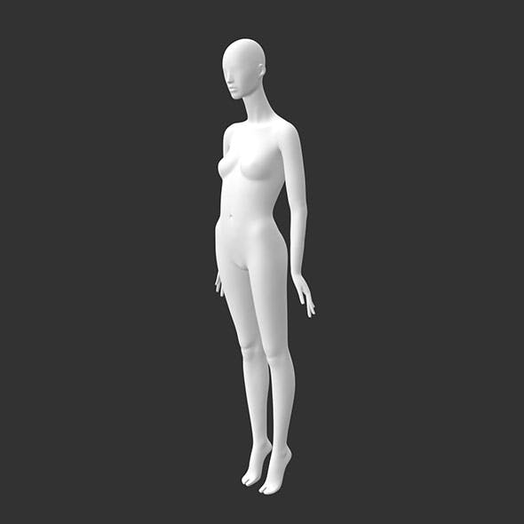 Female mannequin 3d printing model of abstract stand of high heeled shoes