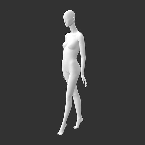 Female mannequin 3d printing model of walk of high-heeled shoes - 3DOcean Item for Sale