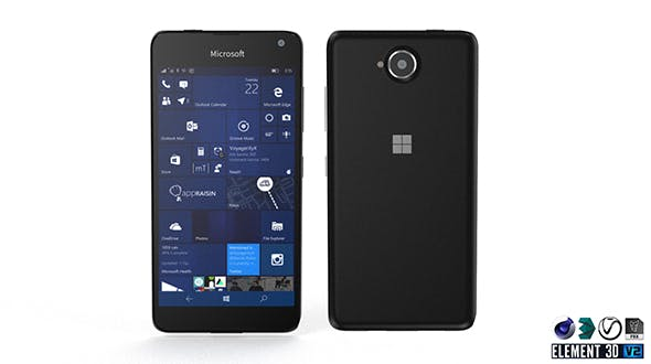 Microsoft Lumia 650 - Element 3D - 3DOcean Item for Sale