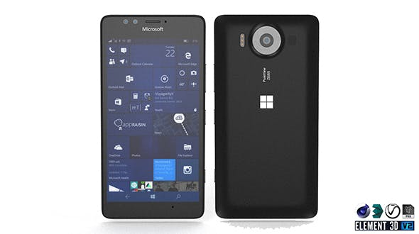 Microsoft Lumia 950 - Element 3D - 3DOcean Item for Sale