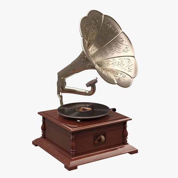 HMV Gramaphone 02 - 3DOcean Item for Sale
