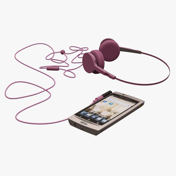 Xeon Telephone and Urbanears Headphones - 3DOcean Item for Sale