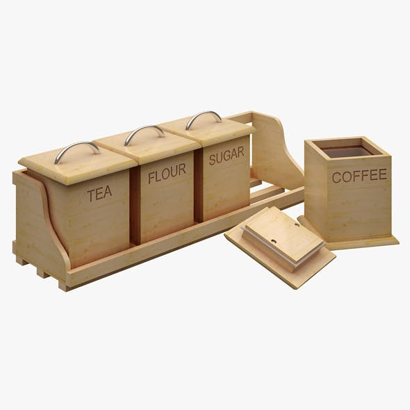 Kitchen Accessorie 01 (Coffee Box) - 3DOcean Item for Sale