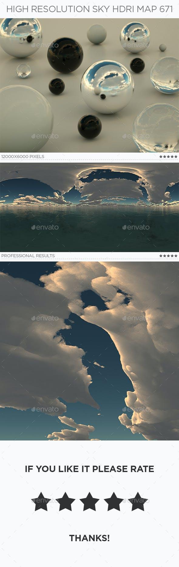 High Resolution Sky HDRi Map 671 - 3DOcean Item for Sale
