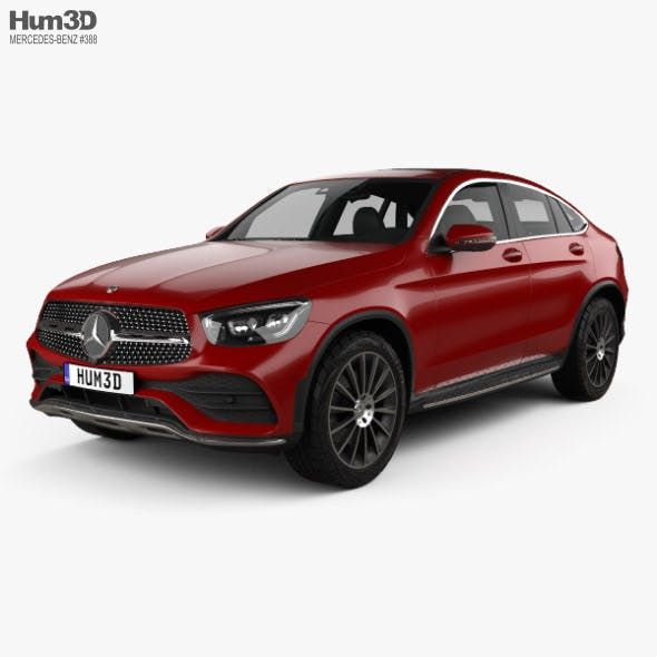 Mercedes-Benz GLC-class AMG-Line coupe 2019 - 3DOcean Item for Sale
