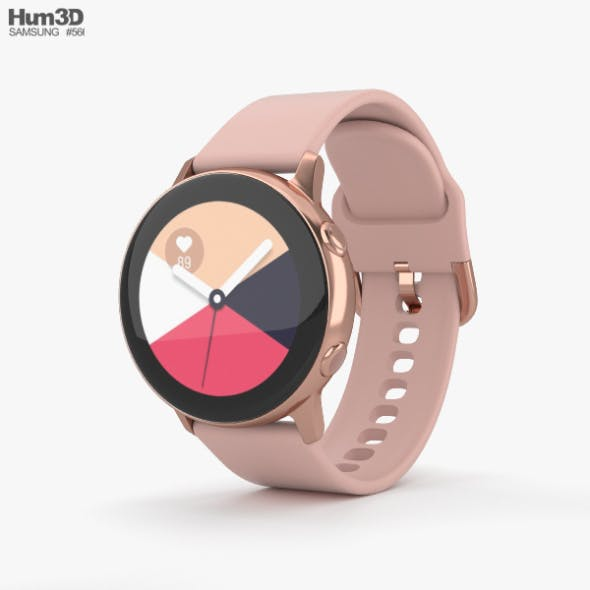 Samsung Galaxy Watch Active Rose Gold - 3DOcean Item for Sale