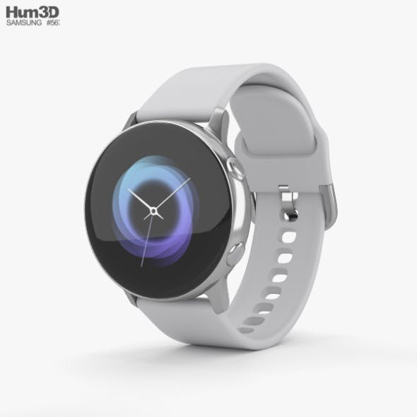 Samsung Galaxy Watch Active Silver - 3DOcean Item for Sale