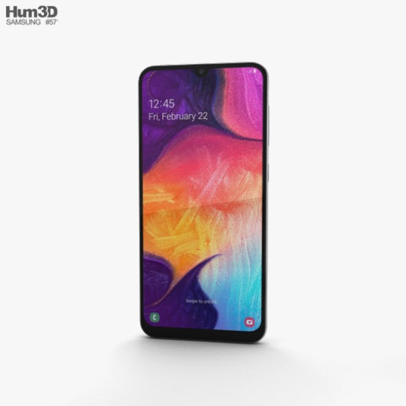 Samsung Galaxy A50 White - 3DOcean Item for Sale