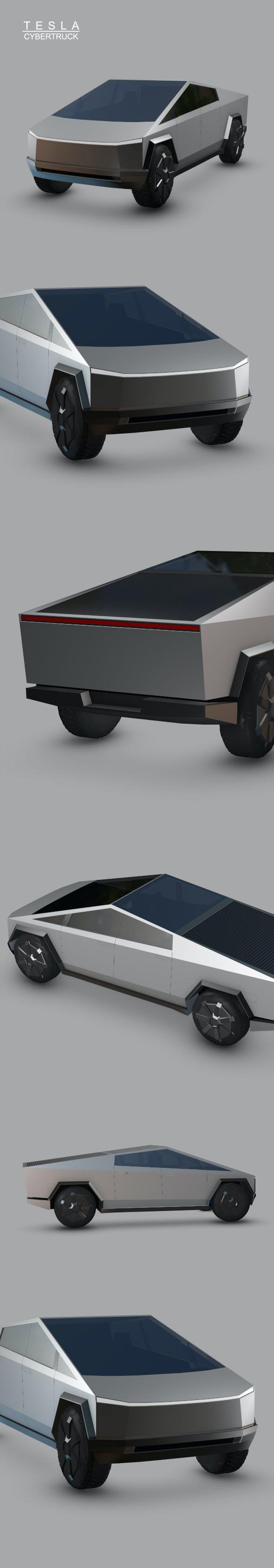 Cybertruck Tesla - 3DOcean Item for Sale