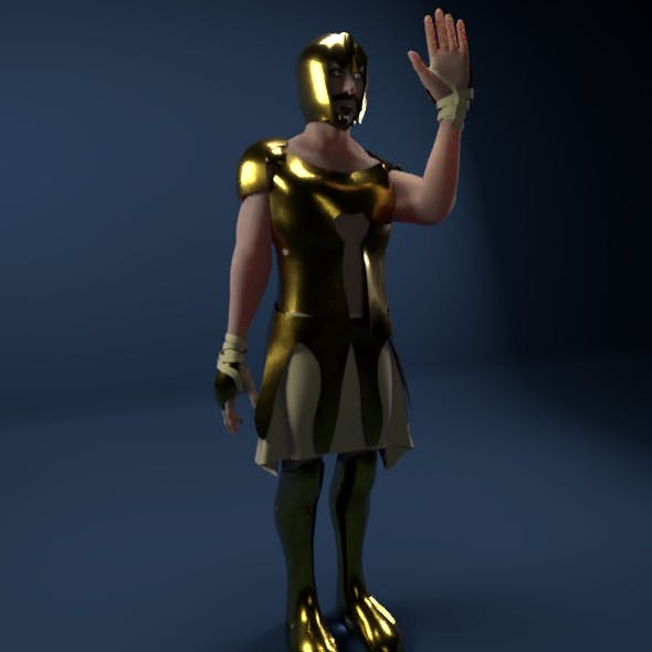 Gladiator (Rigged) - 3DOcean Item for Sale