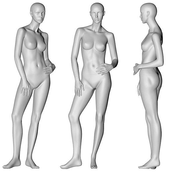 Female Mannequin 3d printing model