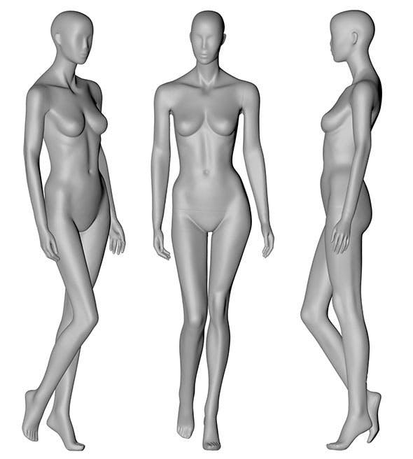 Female Mannequin 3d printing model - 3DOcean Item for Sale