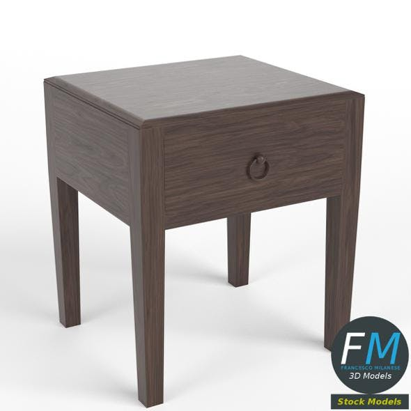 One drawer bedside table - 3DOcean Item for Sale