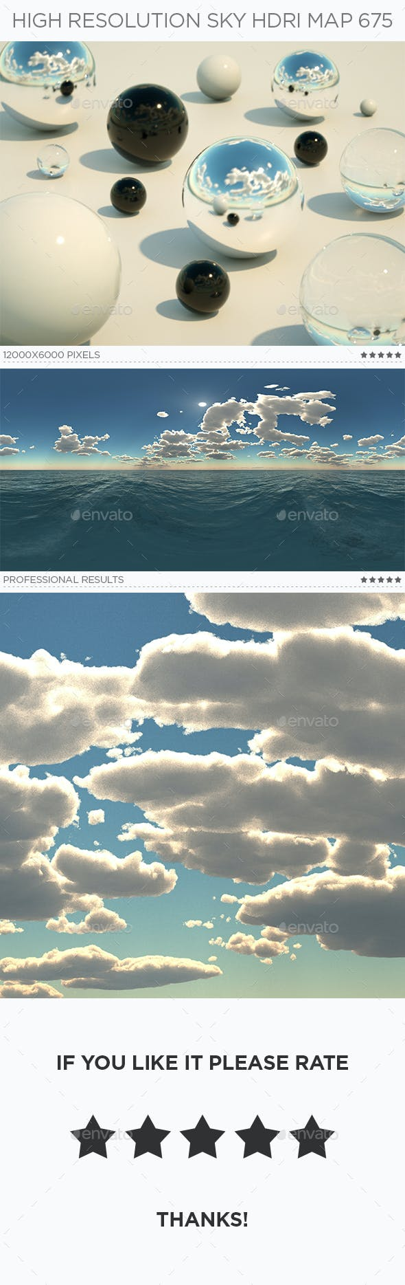 High Resolution Sky HDRi Map 675 - 3DOcean Item for Sale