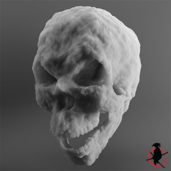 Evil Cloud Skull - 3DOcean Item for Sale