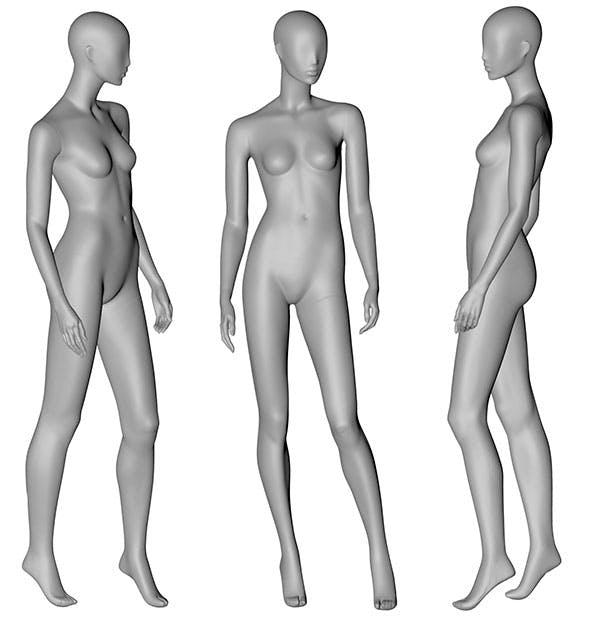 Female Mannequin 3d printing model 11 - 3DOcean Item for Sale