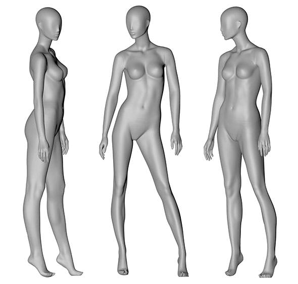 Female Mannequin 3d printing model 12 - 3DOcean Item for Sale