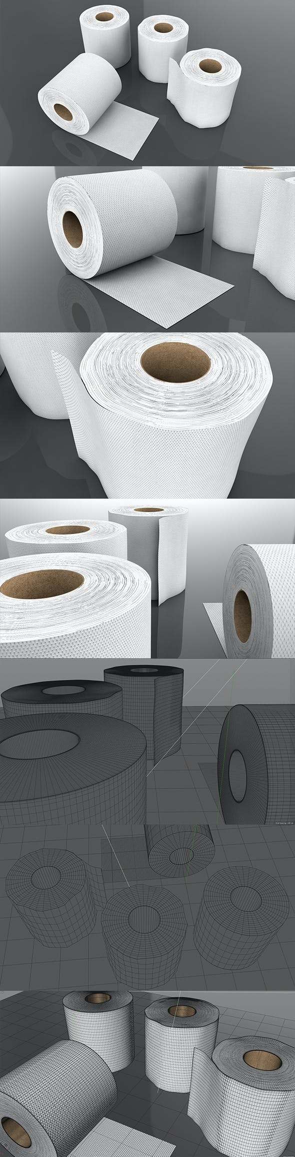 3D Tissue Paper Roll - 3DOcean Item for Sale
