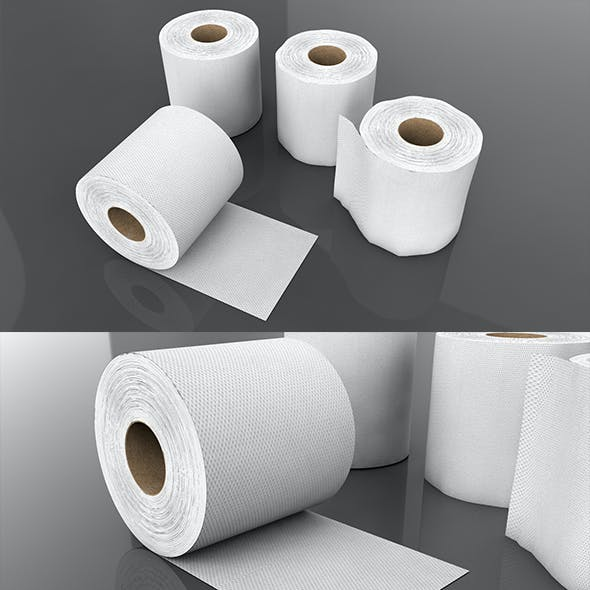 3D Tissue Paper Roll