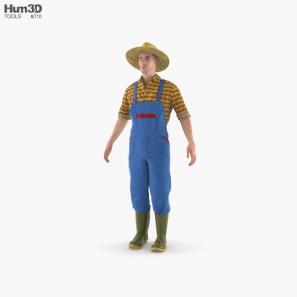 Farmer - 3DOcean Item for Sale