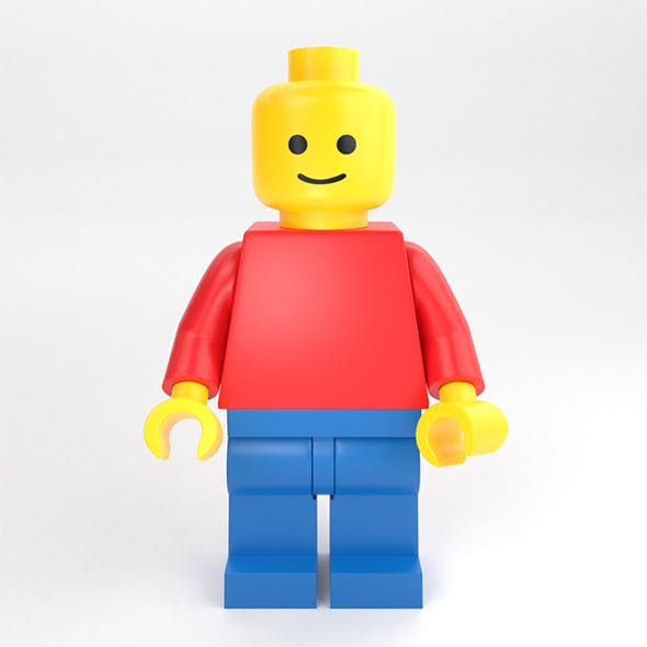 LEGO standard minifigure - 3DOcean Item for Sale