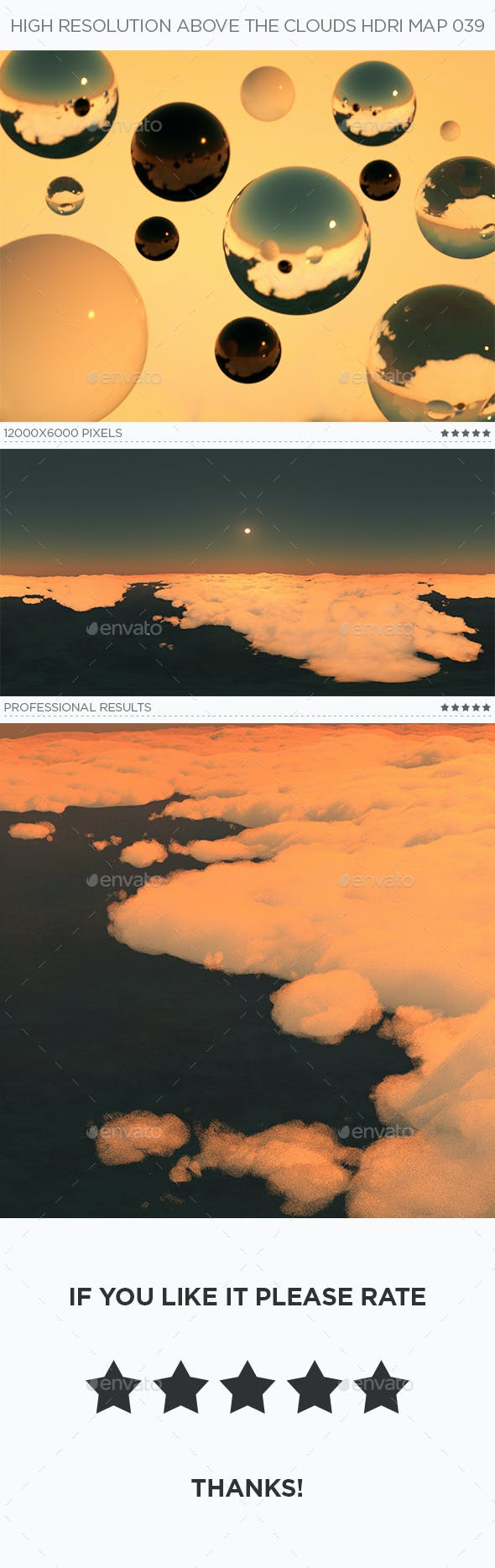 High Resolution Above The Clouds HDRi Map 039 - 3DOcean Item for Sale