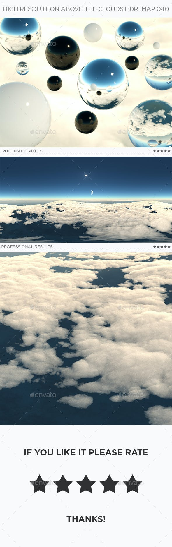 High Resolution Above The Clouds HDRi Map 040 - 3DOcean Item for Sale