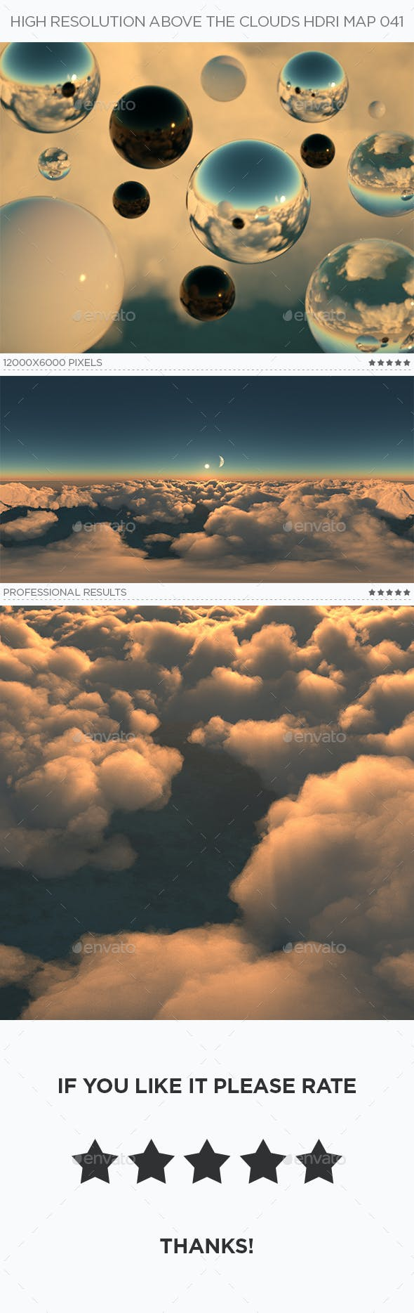 High Resolution Above The Clouds HDRi Map 041 - 3DOcean Item for Sale
