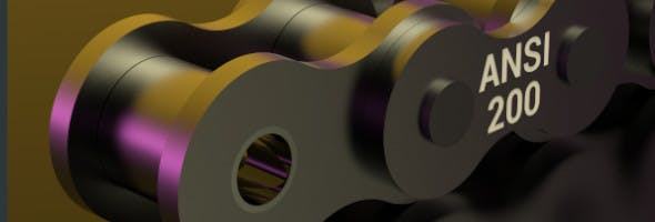 STANDARD ROLLER CHAIN - ANSI 200 - 3DOcean Item for Sale