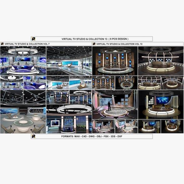 Virtual Tv Studio Sets Collection Vol 13 8 Pcs Design By A3ddesign