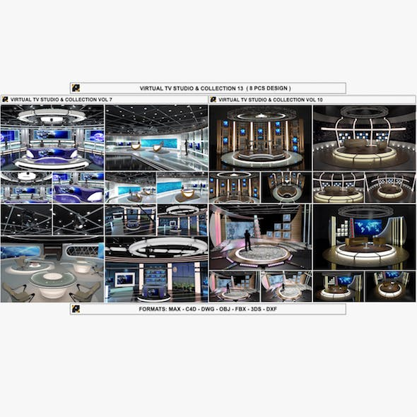Virtual TV Studio Sets - Collection Vol 13 - 8 PCS DESIGN