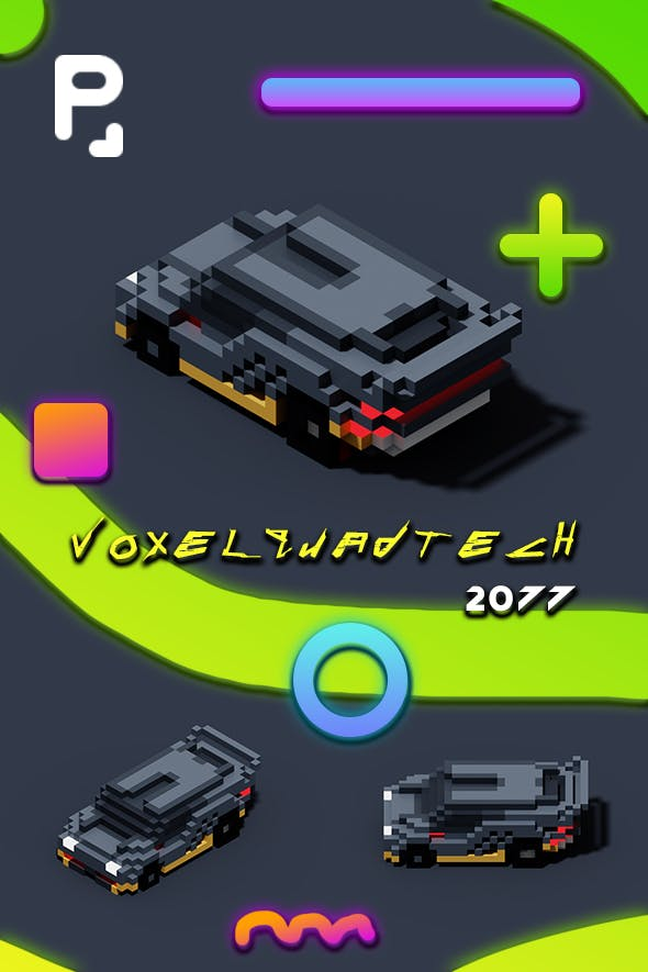 VoxelQuadTech - 3DOcean Item for Sale