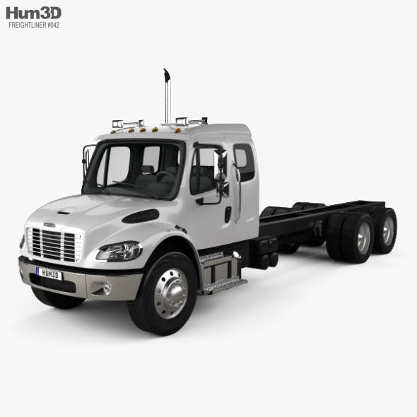 Freightliner M2 Extended Cab Chassis Truck 3-axle 2014