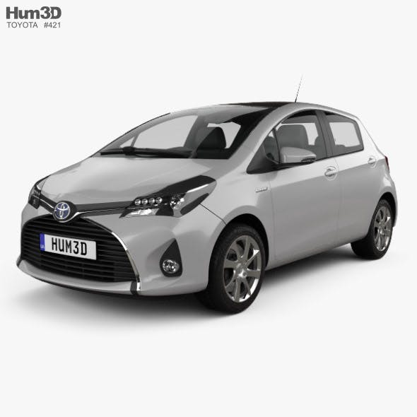 Toyota Yaris Hybrid 5-door 2015 - 3DOcean Item for Sale