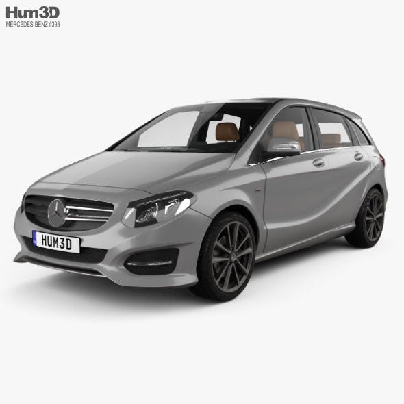 Mercedes-Benz B-class Urban Line with HQ interior 2014 - 3DOcean Item for Sale